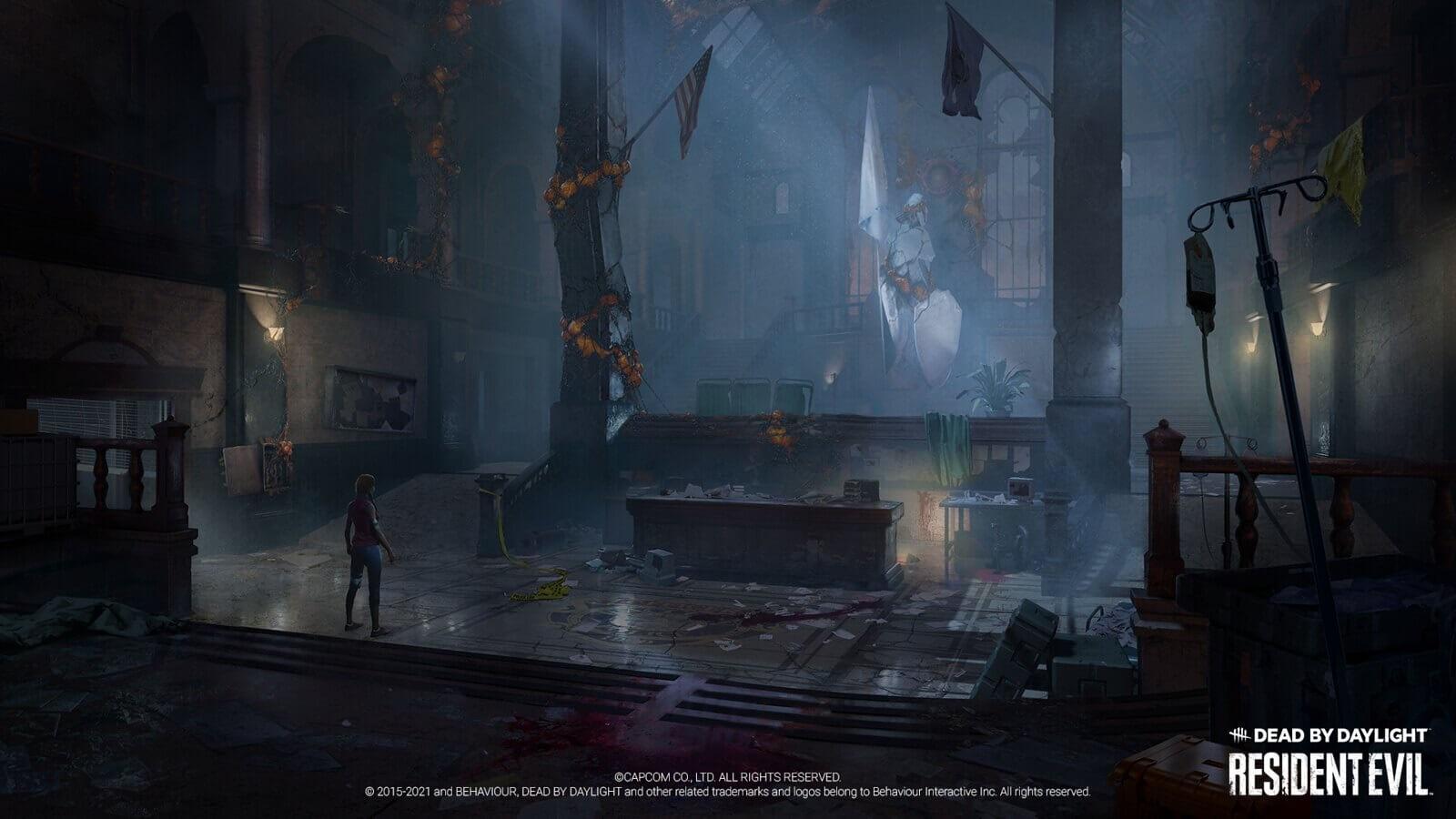 Dead by Daylight: La comisaría de Raccoon City será el mapa más grande del juego