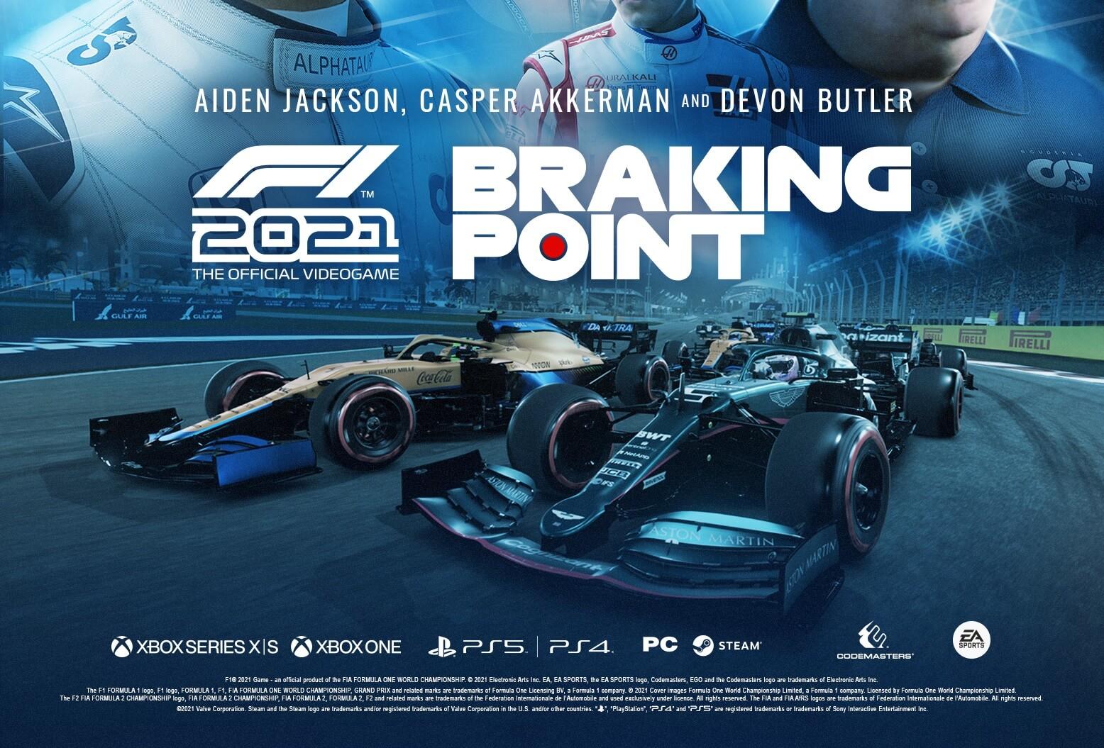 F1 2021 presenta a los protagonistas de su modo historia Braking Point