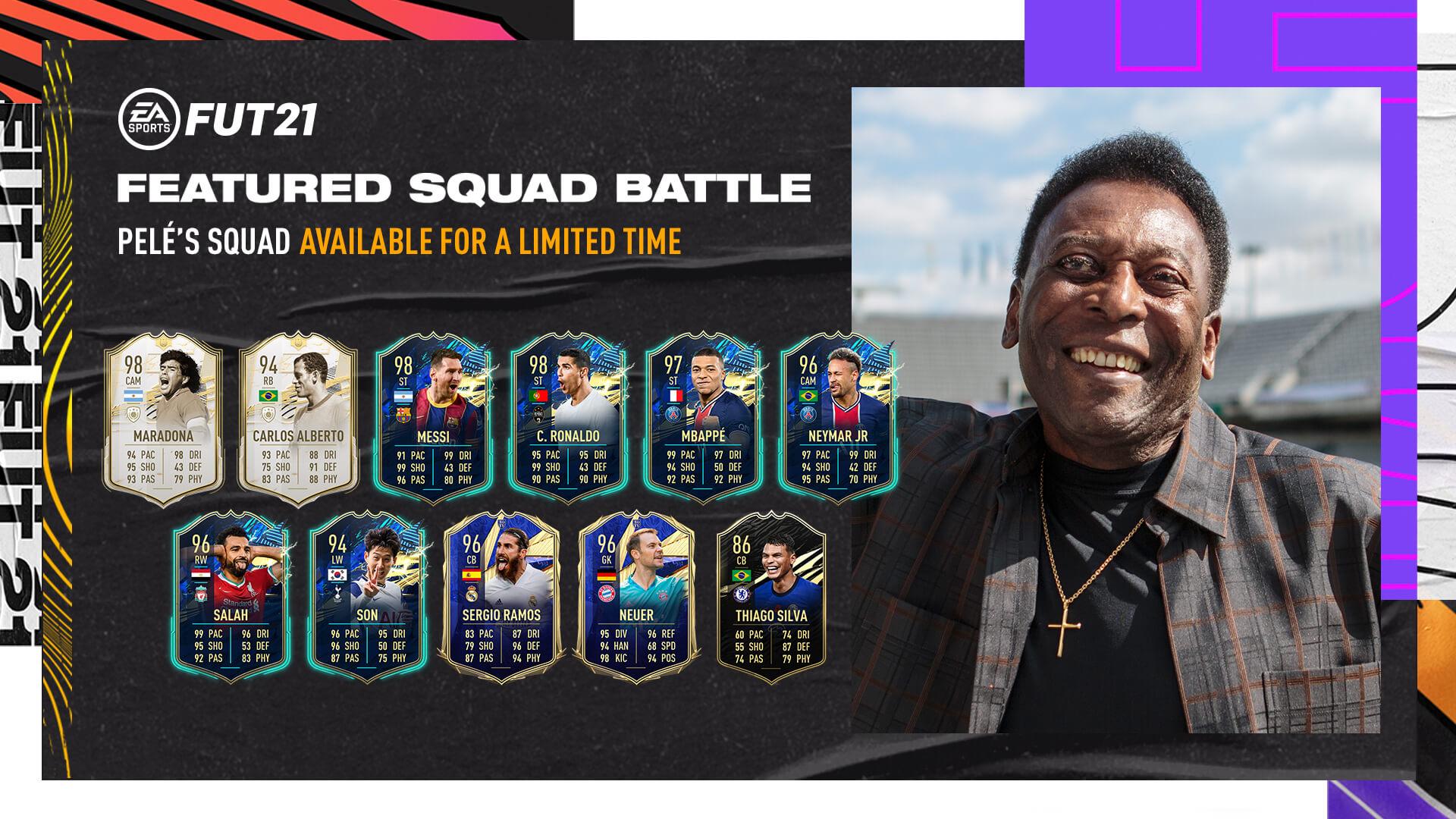 FIFA 21: El once histórico de Pelé llega a FIFA Ultimate Team