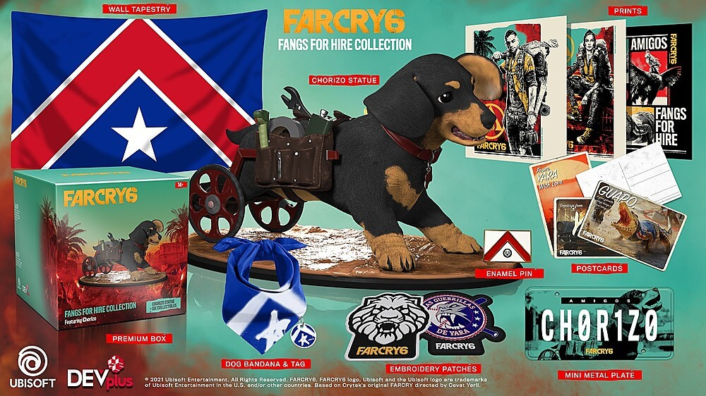 Far Cry 6 se venderá en esta espectacular edición protagonizada por Chorizo; pero no incluye el juego