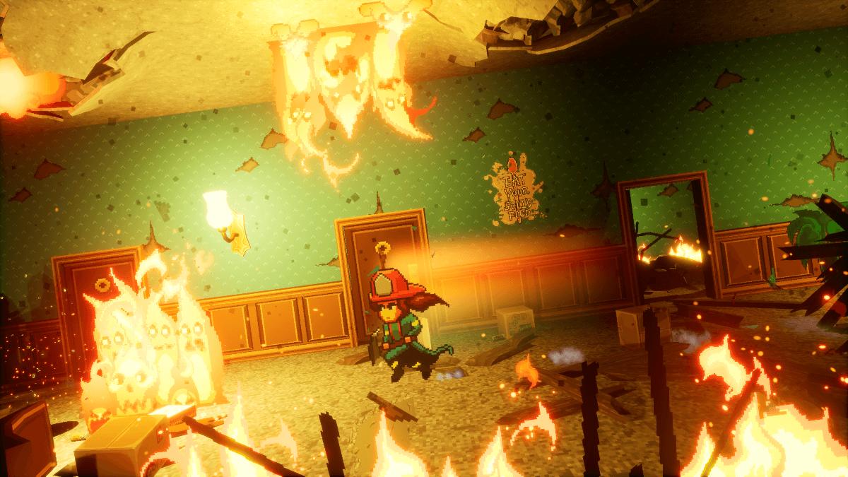 Descubre Firegirl, este juego que mezcla ser bombero con plataformas y elementos roguelite