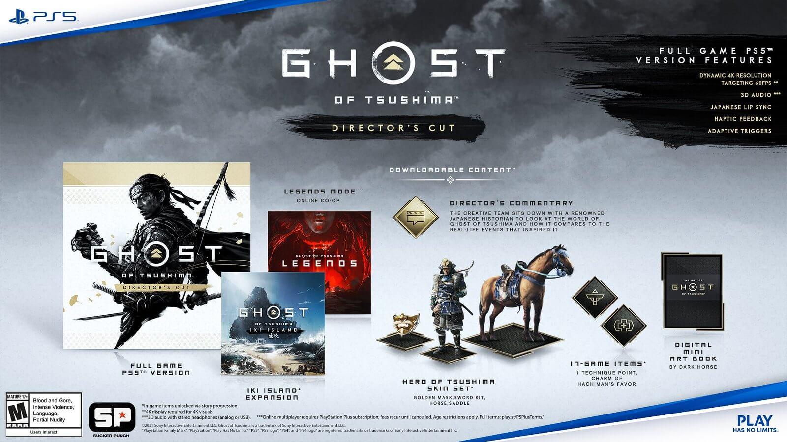 Ghost of Tsushima Director's Cut   Ediciones, precio y costo de los upgrades