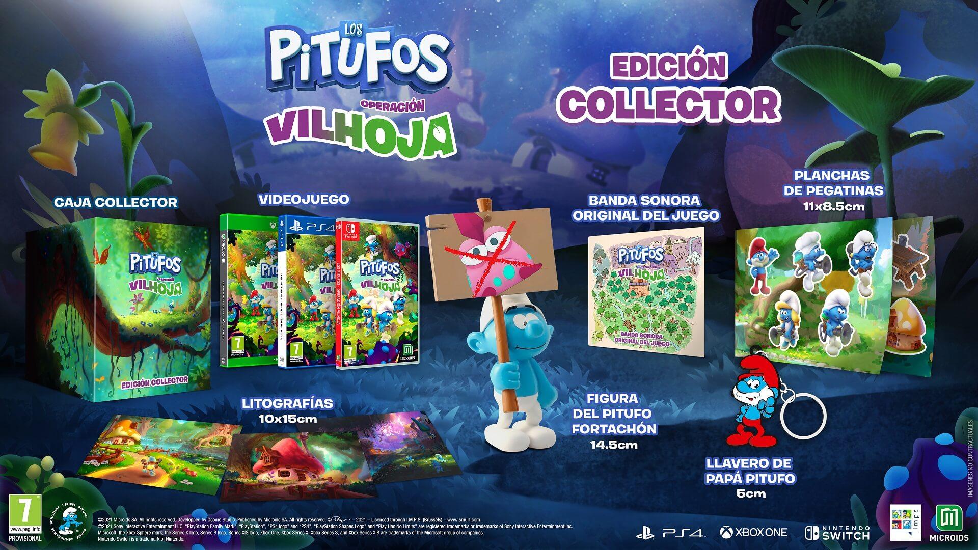 Los Pitufos: Operación Vilhoja presenta sus espectaculares ediciones físicas