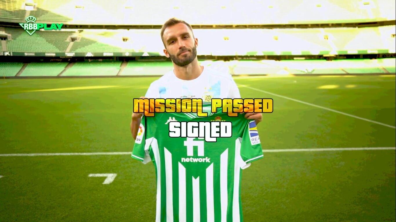 El Real Betis anuncia el fichaje de Pezzella al estilo de GTA
