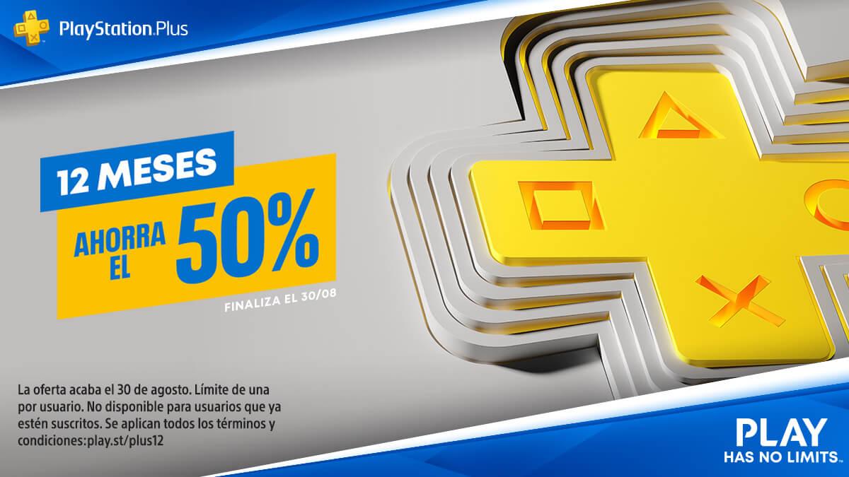 PlayStation Plus | Suscripción de 12 meses está al 50% de descuento