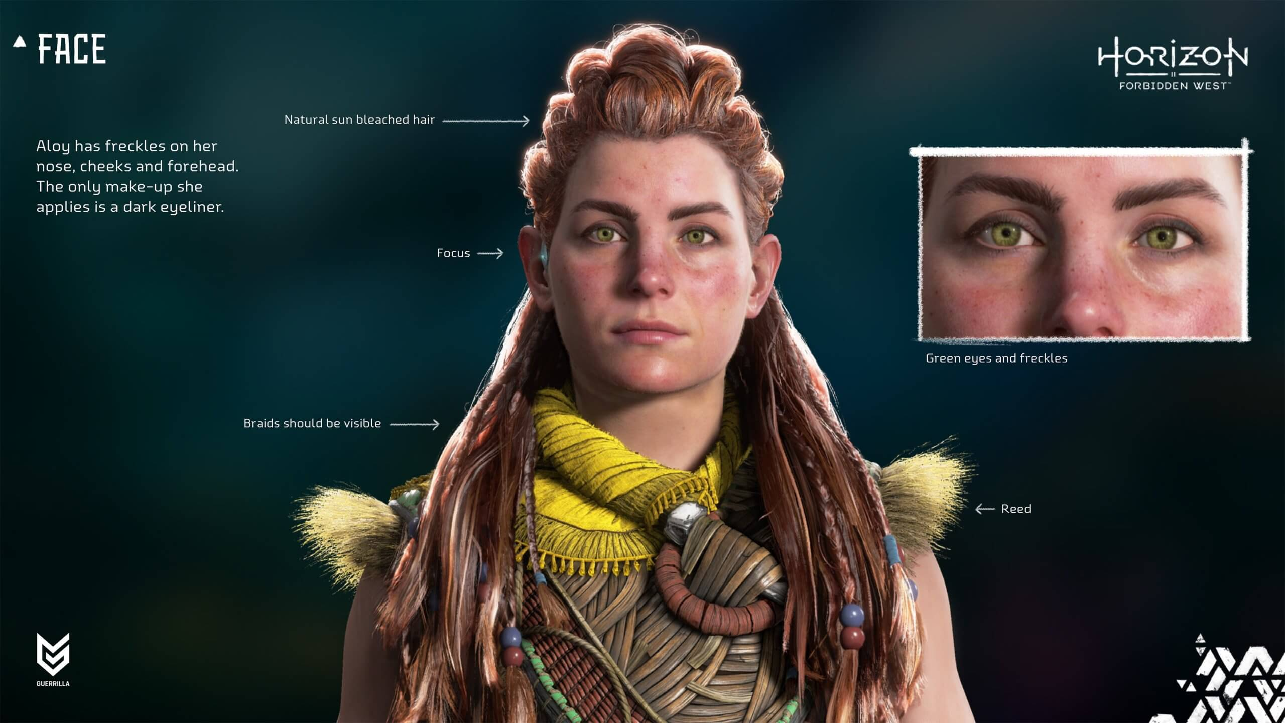 Nuevas imágenes del modelo de Aloy en Horizon Forbidden West en PS5