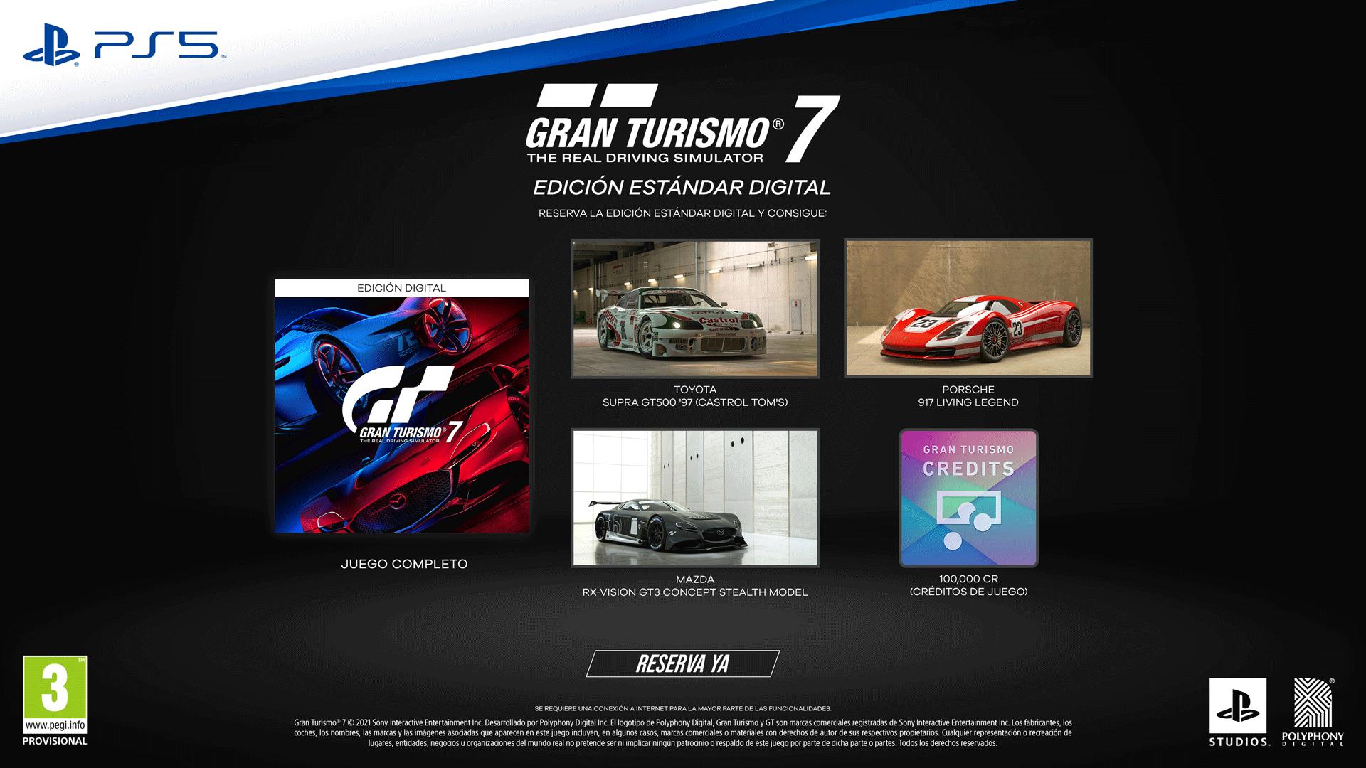 Gran Turismo 7 detalla sus ediciones físicas, digitales, precio y más
