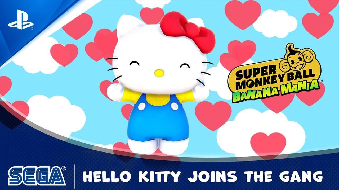 Hello Kitty será un personaje DLC de Super Monkey Ball Banana Mania