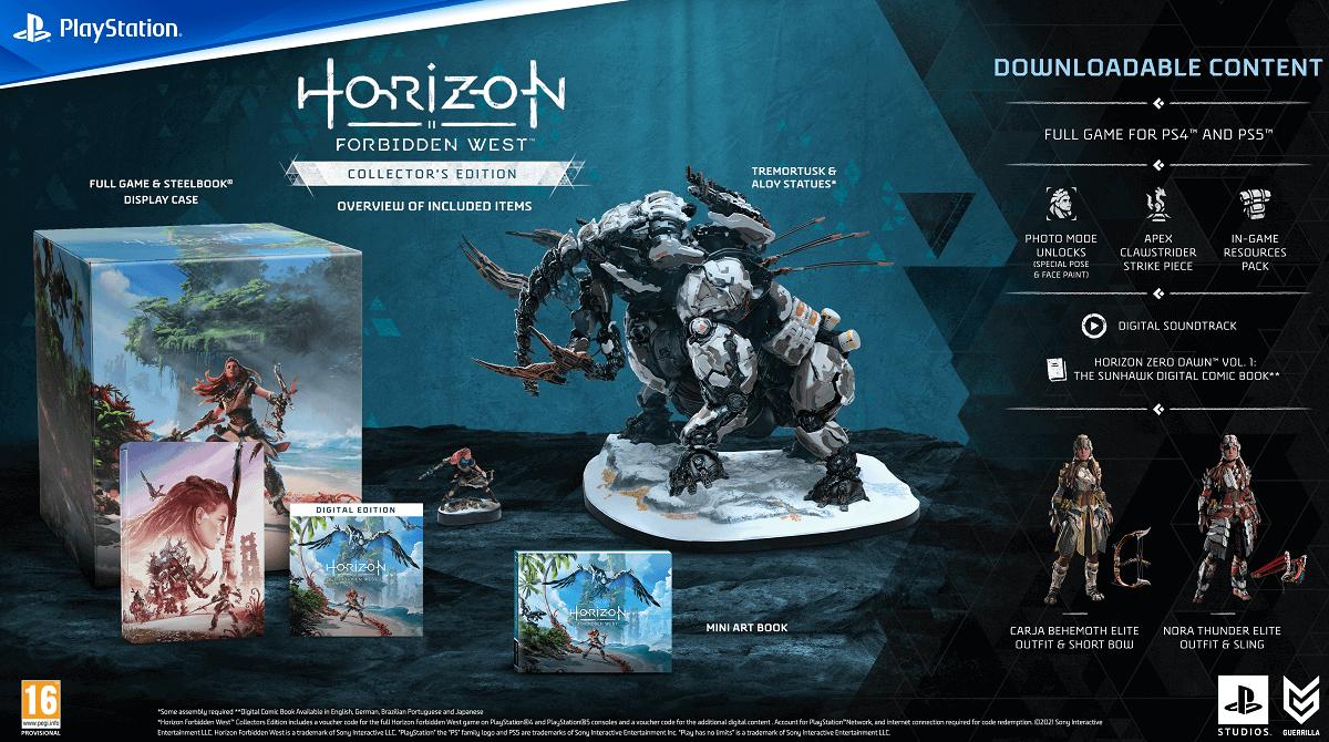 Horizon Forbidden West | Ediciones coleccionista y Regalla no incluyen el juego físico