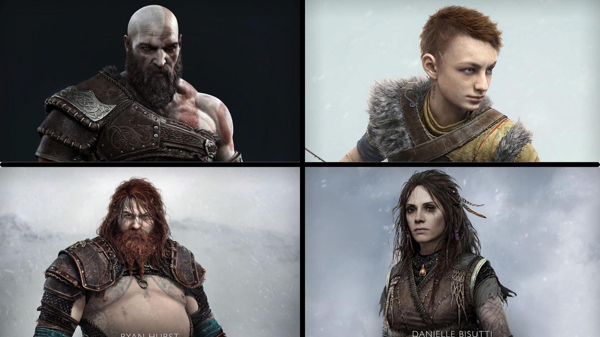 God of War Ragnarok desvela el aspecto de sus personajes principales