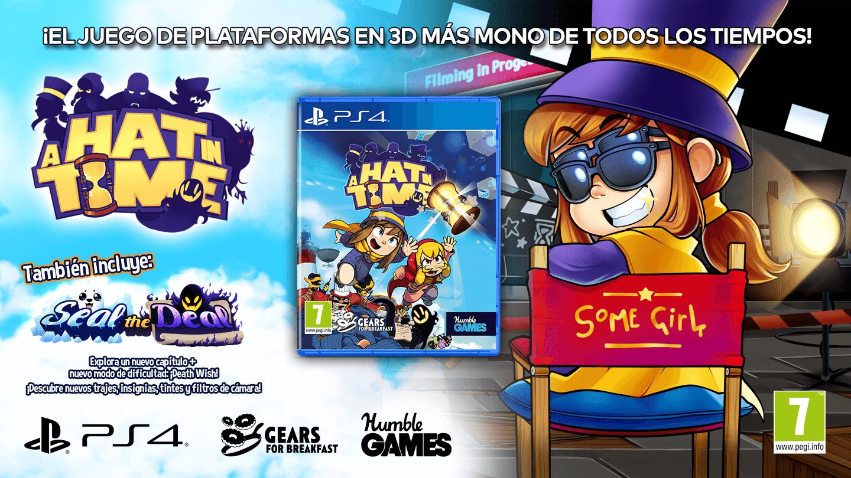 La magia de A Hat in Time llegará a PS4 en físico en noviembre