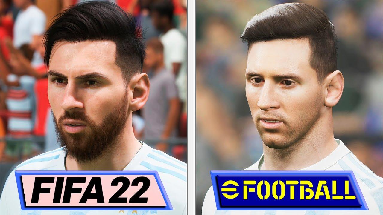 ¿eFootball 2022 o FIFA 22? Aquí te dejamos esta comparativa gráfica