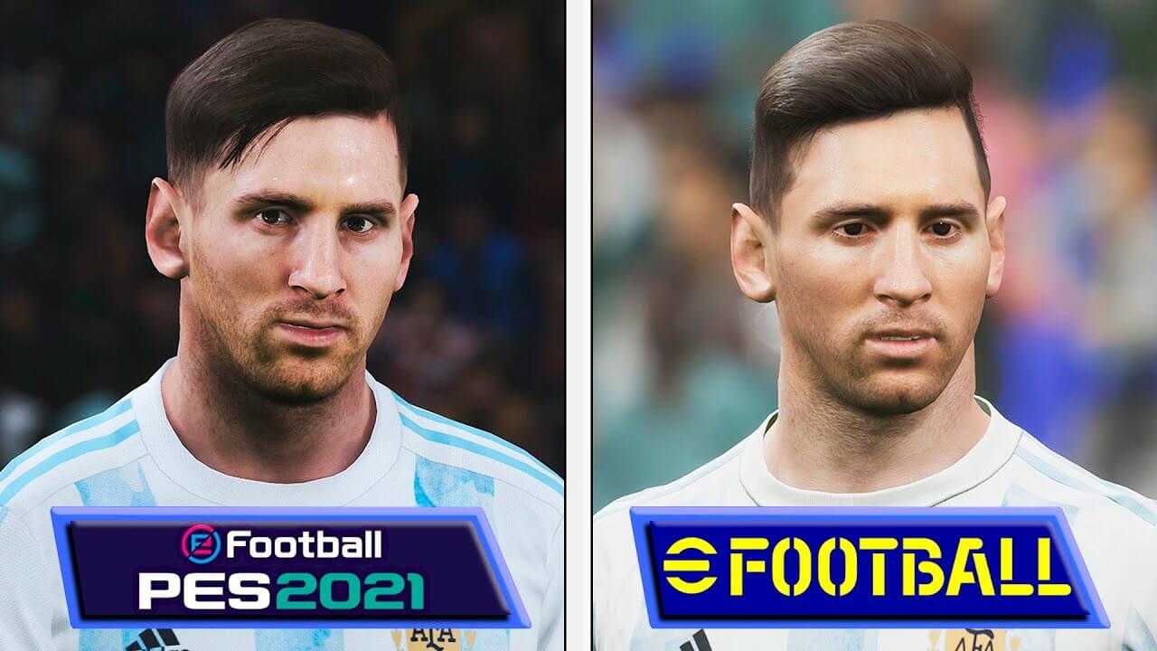 ¿eFootball 2022 se ve peor que eFootball 2021? Esta comparativa lo analiza